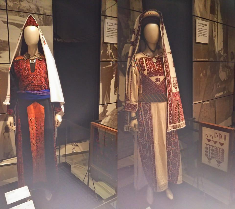 西アジア 伝統衣装 クロスステッチ 一色刺し